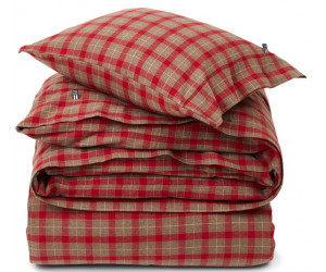 Lexington Bettwäsche Holiday Checked Flanell rot