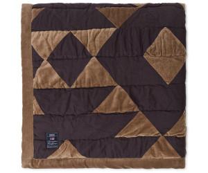 Lexington Bettüberwurf Quilted Cotton Velvet braun/grau
