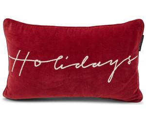Lexington Dekokissenbezug Holidays Cotton Velvet rot