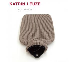 Katrin Leuze Wärmflasche Merino-Seide dunkelbeige