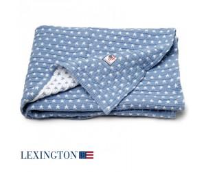 Lexington Baby Decke Star blau