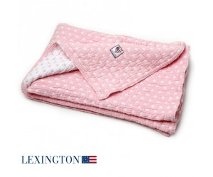 Lexington Baby Decke Star rosa