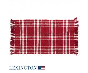 Lexington Rug Webteppich rot / weiß (80 x 220 cm)
