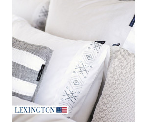 Lexington Bettwäsche Poplin Embroidery grau