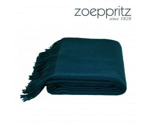 Zoeppritz Plaid Attitude pfauenblau -790 (130 x 200 cm)