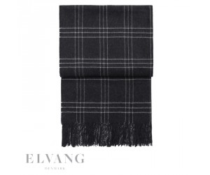 Elvang Plaid Superior dark grey/white