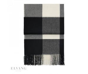 Elvang Plaid Whisper black/ cream