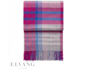 Elvang Plaid Star swing pink/flint grey/pacific