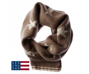 Lexington Schal Knitted Star Silver Mink
