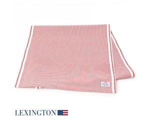 Lexington Tischläufer Living Authentic Stripe Oxford rot-weiß
