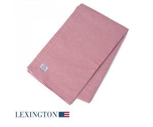 Lexington Tischdecke Authentic Stripe Oxford rot-weiß
