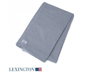 Lexington Tischdecke Authentic Stripe Oxford navy-weiß