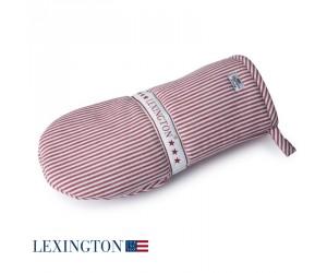 Lexington Kochhandschuh Living Authentic Stripe Oxford rot-weiß