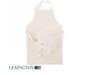Lexington Kochschürze Authentic Stripe Oxford beige-weiß