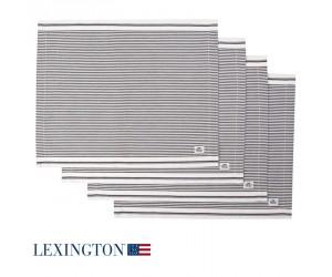 Lexington Platzset Living Authentic Stripe Oxford graphit-weiß