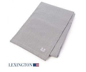 Lexington Tischdecke Authentic Stripe Oxford graphit-weiß