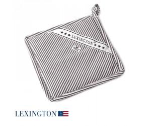 Lexington Topflappen Living Authentic Stripe Oxford graphit-weiß