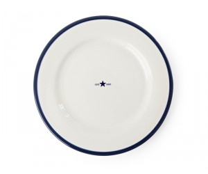 Lexington 4er Set Dessertteller Star blau