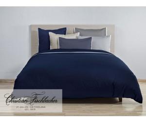 Christian Fischbacher Bettwäsche Satin Deluxe dunkelblau