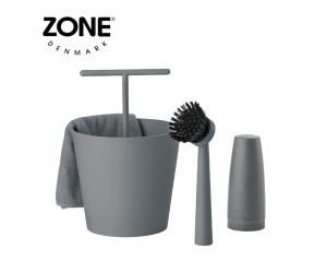 Zone Geschirrspühlset Bucket cool grey