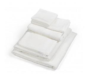 Libeco Halbleinen handtücher Simi optic white