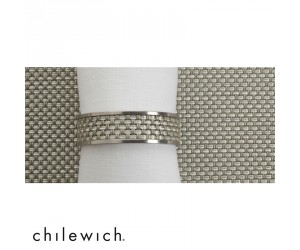 Chilewich Serviettenring Mini Basketweave Narrow aloe
