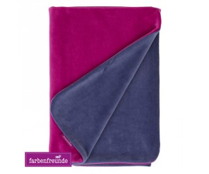 Farbenfreunde Babydecke fuchsia/lavendel