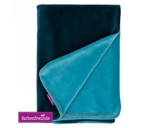 Farbenfreunde Babydecke winterpetrol/aqua