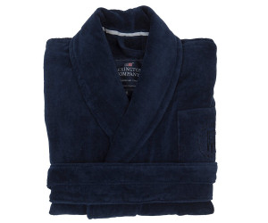 Lexington Bademantel Hotel Velour Robe blau