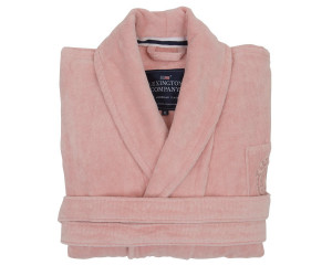 Lexington Bademantel Hotel Velour Robe rosa