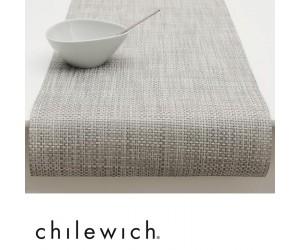 Chilewich Läufer Basketweave weiß/silber