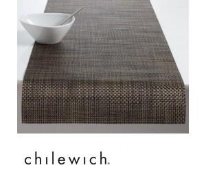Chilewich Läufer Basketweave schwarz/gold