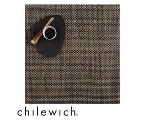 Chilewich Set Quadratisch Basketweave schwarz/gold
