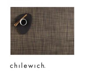 Chilewich Set Rechteckig Basketweave schwarz/gold