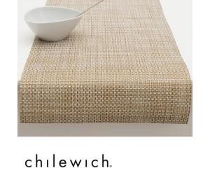 Chilewich Läufer Basketweave weiß/gold