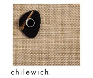 Chilewich Set Quadratisch Basketweave weiß/gold