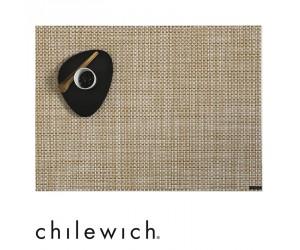 Chilewich Set Rechteckig Basketweave weiß/gold