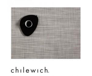 Chilewich Set Rechteckig Basketweave weiß/silber