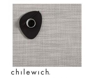 Chilewich Set Quadratisch Basketweave weiß/silber