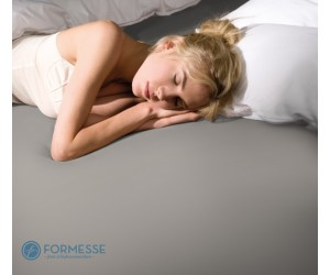 Formesse Spannbettlaken Bella Donna Edel-Frottee grau