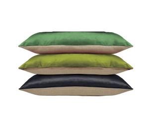 Iosis Dekokissen BERLINGOT (grün, grasgrün, schwarz / 2 Größen)