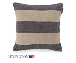 Lexington Dekokissenbezug Block Striped blau/beige
