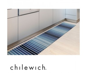 Chilewich Fußmatte Block Stripe denim