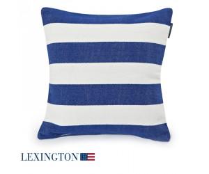 Lexington Dekokissen Block Striped Sham blau/weiß