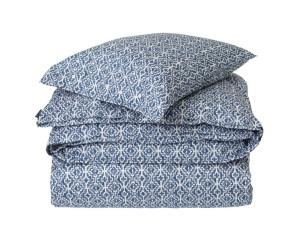 Lexington Bettwäsche Blue Printed Sateen Bedding