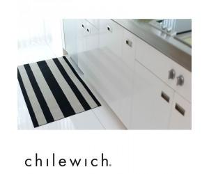 Chilewich Teppich Bold Stripe schwarz/weiß