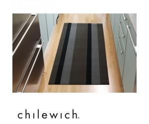 Chilewich Teppich Bold Stripe silber/schwarz