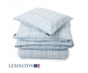 Lexington Bettwäsche Poplin Checked blau/weiß