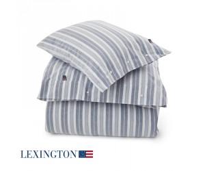 Lexington Bettwäsche Pin Point Stripe blau/weiß