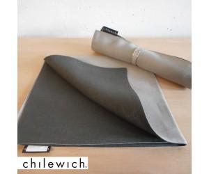 Chilewich Serviette Double/ Reversible cement/smoke